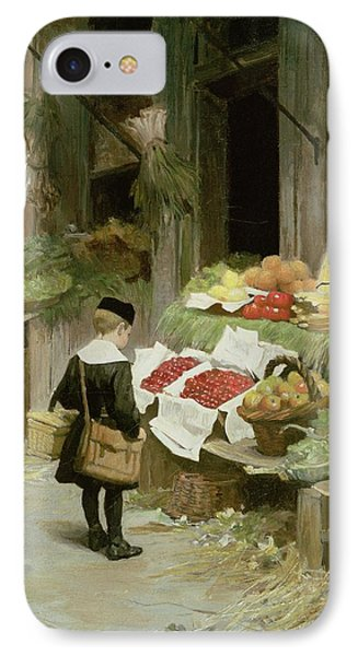 Little Boy At The Market Phone Case by Victor Gabriel Gilbert