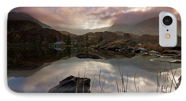 Llyn Ogwen Sunset IPhone Case by Beverly Cash