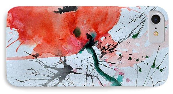 Lonely Poppy Phone Case by Ismeta Gruenwald