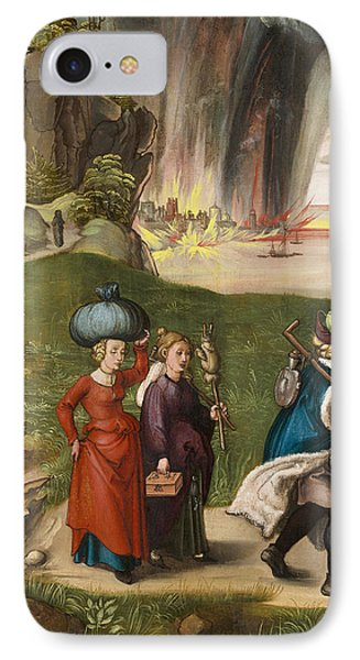 Lot And His Daughters IPhone Case by Albrecht Durer