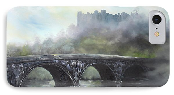 Ludlow Castle In A Mist IPhone Case by Jean Walker