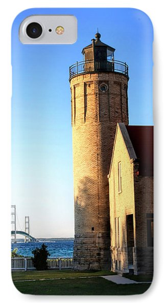 Mackinac Old Lighthouse. IPhone Case by Pat Cook