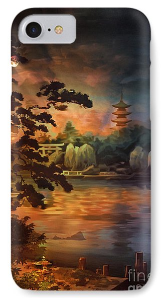 Magic Of Japanese Gardens. IPhone Case by Andrzej Szczerski
