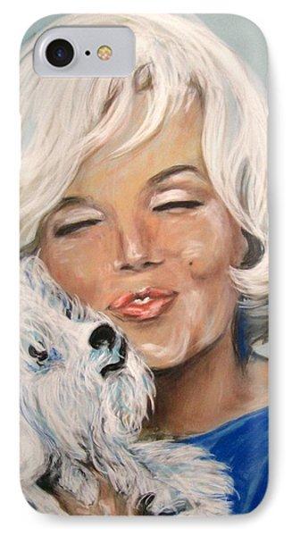 Marilyn And Maf IPhone Case by Martha Suhocke