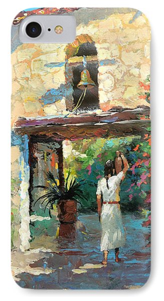 IPhone Case featuring the painting -mexican Girl With Jug by Dmitry Spiros