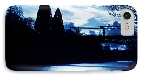 Montlake Bridge In Seattle Washington At Dusk IPhone Case by Eddie Eastwood