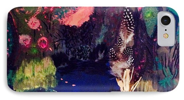 IPhone Case featuring the painting  My Pond by Vanessa Palomino