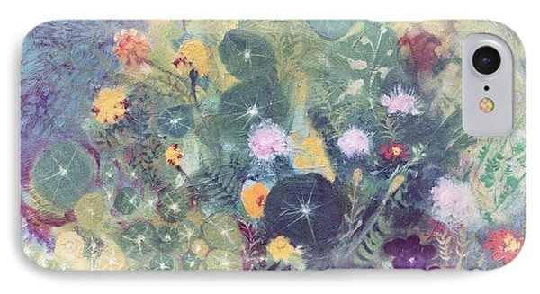 Nasturtiums And Marigolds Phone Case by Trudy Brodkin Storace