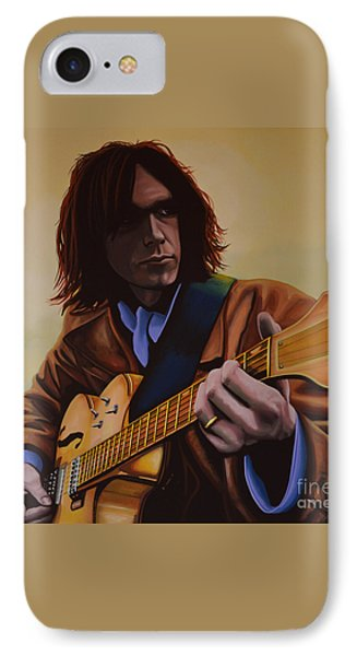 Neil Young Painting IPhone 7 Case by Paul Meijering