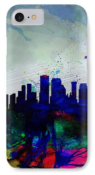 New Orleans Watercolor Skyline IPhone Case by Naxart Studio
