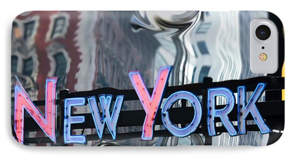 New York Neon Sign Phone Case by Sophie Vigneault