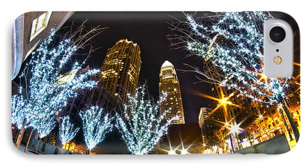 Nightlife Around Charlotte At Christmas IPhone Case by Alex Grichenko