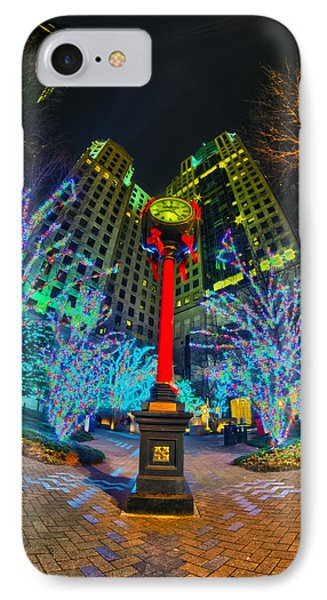 Nightlife Around Charlotte During Christmas IPhone Case by Alex Grichenko