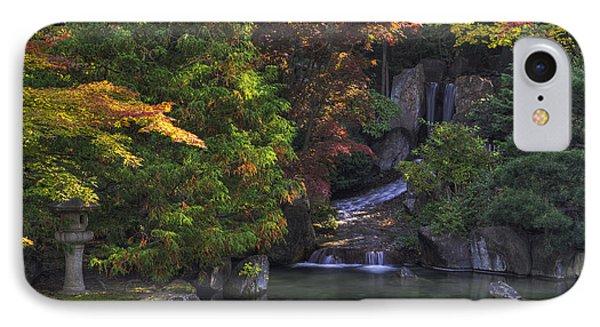 Nishinomiya Japanese Garden - Waterfall IPhone Case by Mark Kiver