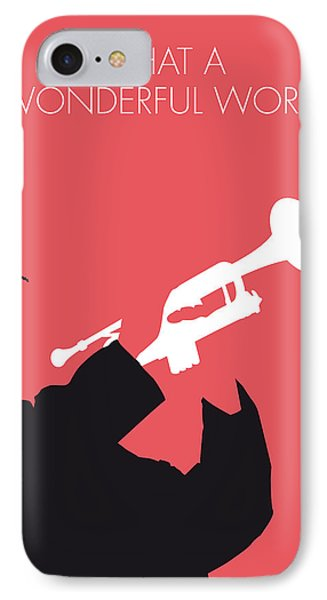 No012 My Louis Armstrong Minimal Music Poster IPhone Case by Chungkong Art