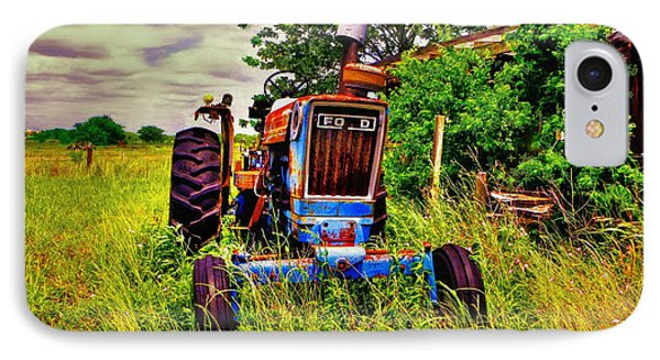 Old Ford Tractor IPhone Case by Savannah Gibbs