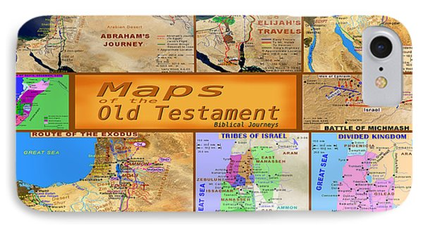 Old Testament Maps IPhone Case by Bob Pardue