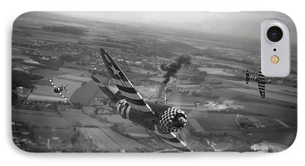 P47 Thunderbolt - D-day Train Busters IPhone Case by Pat Speirs