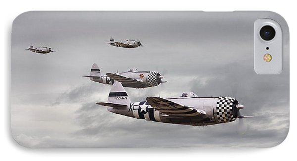 P47 Thunderbolt  Top Cover Phone Case by Pat Speirs