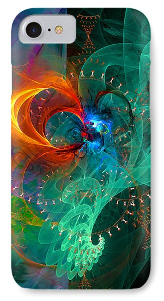 Parallel Reality - Colorful Digital Abstract Art IPhone Case by Modern Art Prints