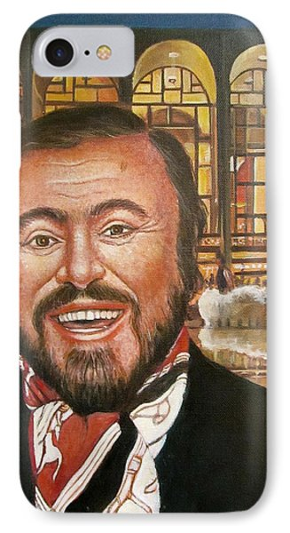 Pavarotti And The Ghost Of Lincoln Center IPhone Case by Melinda Saminski
