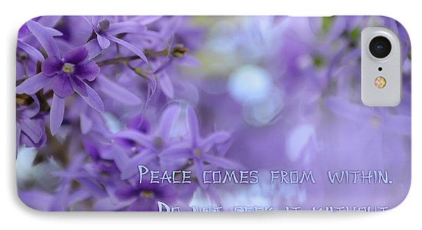 Peace Comes From Within IPhone Case by Olga Hamilton