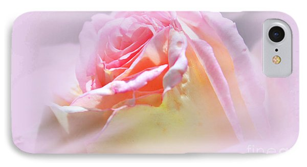 Peaceful Pink Rose Haze IPhone Case by Judy Palkimas