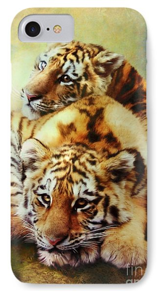 Petit Tigres IPhone Case by Trudi Simmonds