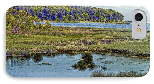 Picturesque Pinquickset Cove On Popponesset Bay IPhone Case by Constantine Gregory