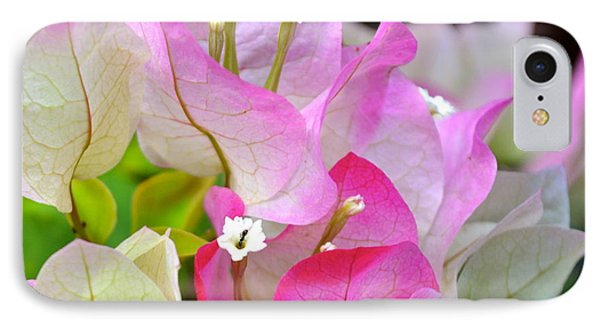 Pink  Bougainvillea ...with A Friend IPhone Case