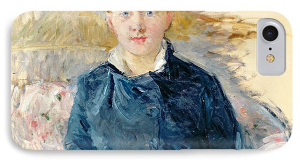 Portrait Of Louise Riesener Phone Case by Berthe Morisot