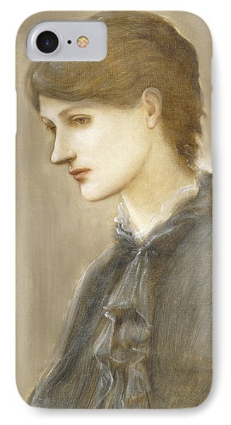 Portrait Of Mrs William J Stillman Nee Marie Spartali IPhone Case by Sir Edward Coley Burne Jones