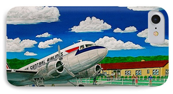 Portsmouth Ohio Airport And Lake Central Airlines IPhone Case by Frank Hunter