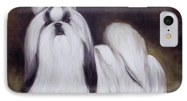 Pretty Showdog Shih Tzu IPhone Case by Melinda Saminski