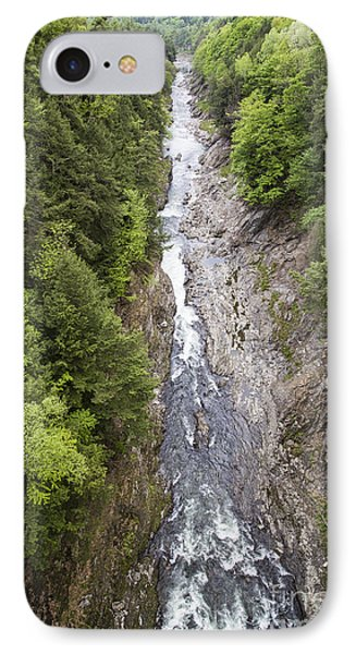 Quechee Gorge Quechee Vermont IPhone Case by Edward Fielding