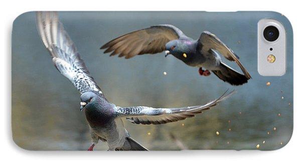 Raining Birdseed IPhone Case by Fraida Gutovich