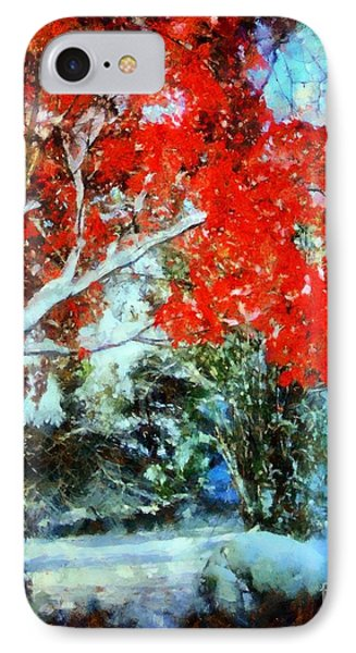 Red October Snow IPhone Case by Janine Riley