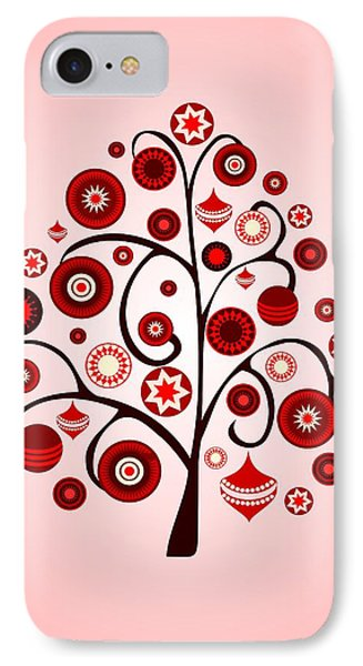 Red Ornaments IPhone Case
