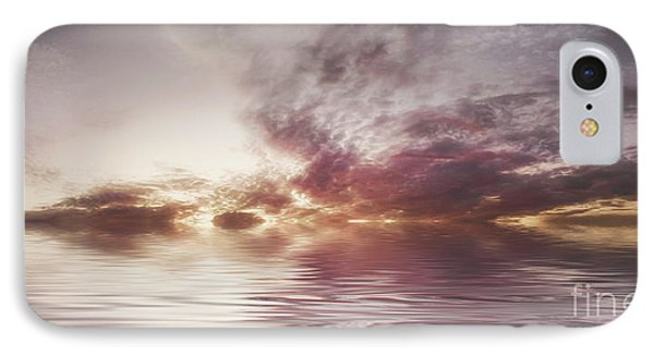 Reflection Of Mauve Skies Phone Case by Holly Martin