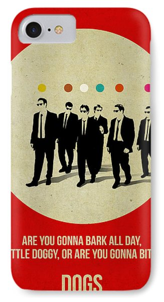 Reservoir Dogs Poster IPhone Case by Naxart Studio