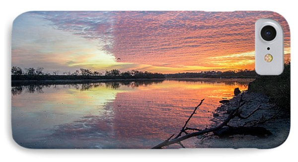 River Glows At Sunrise IPhone Case