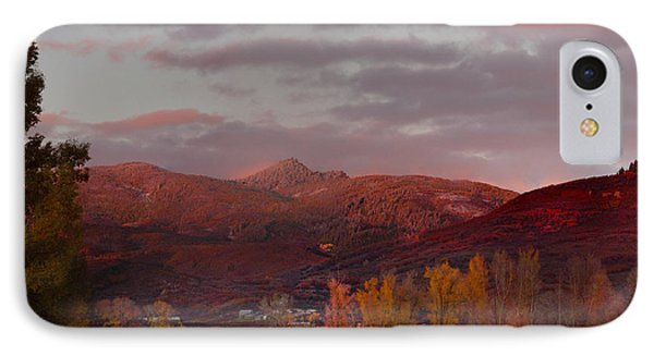 IPhone Case featuring the photograph  Rocky Peak Autumn Sunset by Daniel Hebard