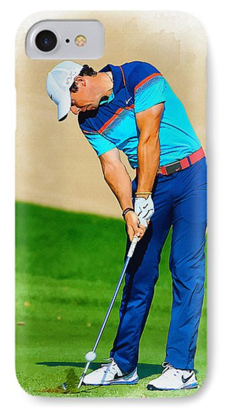 Rory Mcilroy Plays His Second Shot On The Par 4 IPhone Case