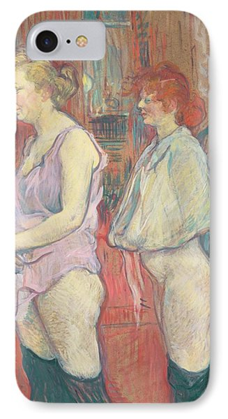 Rue Des Moulins IPhone Case by Henri de Toulouse-Lautrec