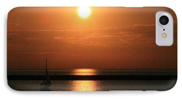 Sailboat A Drift IPhone Case by Kay Novy