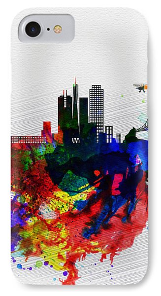 San Francisco Watercolor Skyline 1 IPhone Case