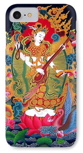 Saraswati 3 IPhone Case by Lanjee Chee