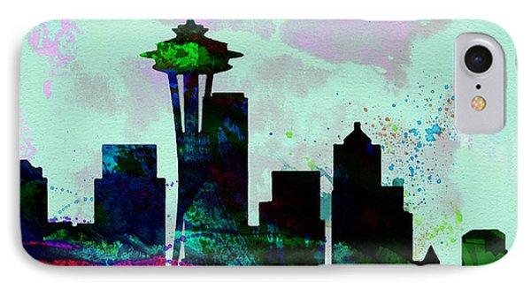 Seattle City Skyline IPhone 7 Case by Naxart Studio