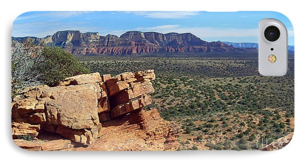 Sedona View From Roober Roost Phone Case by Sin D Piantek