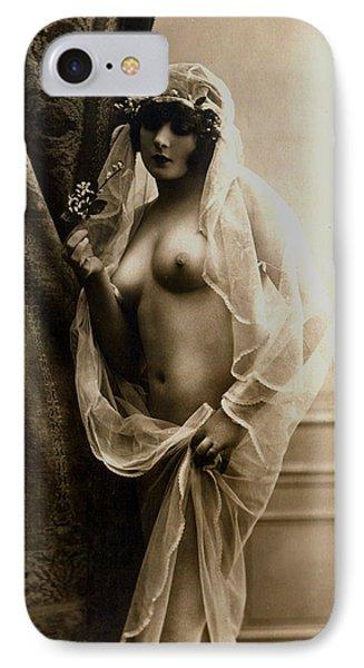 Sexy Nude Sepia Tone Phone Case by Studio Artist